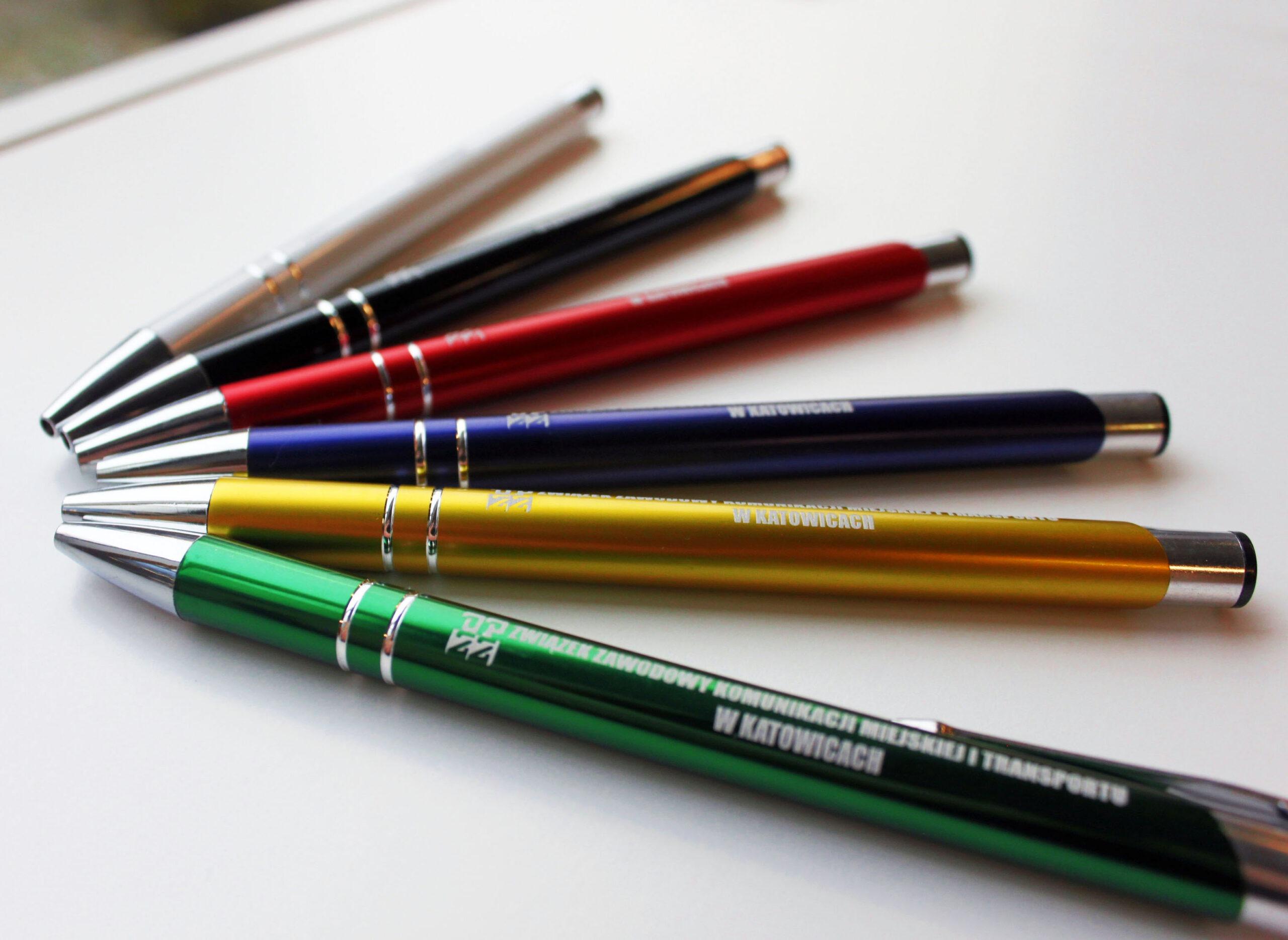 Realizacja ZZKMiT długopisy reklamówki