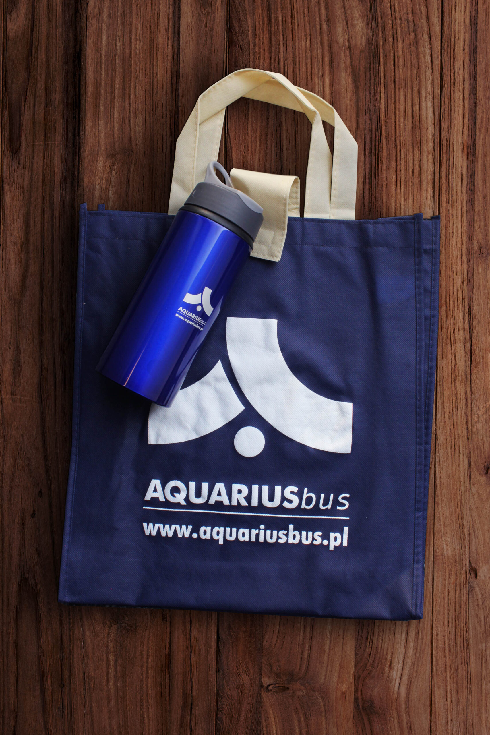 Realizacja Aquarius Bus torby materiałowe bidony