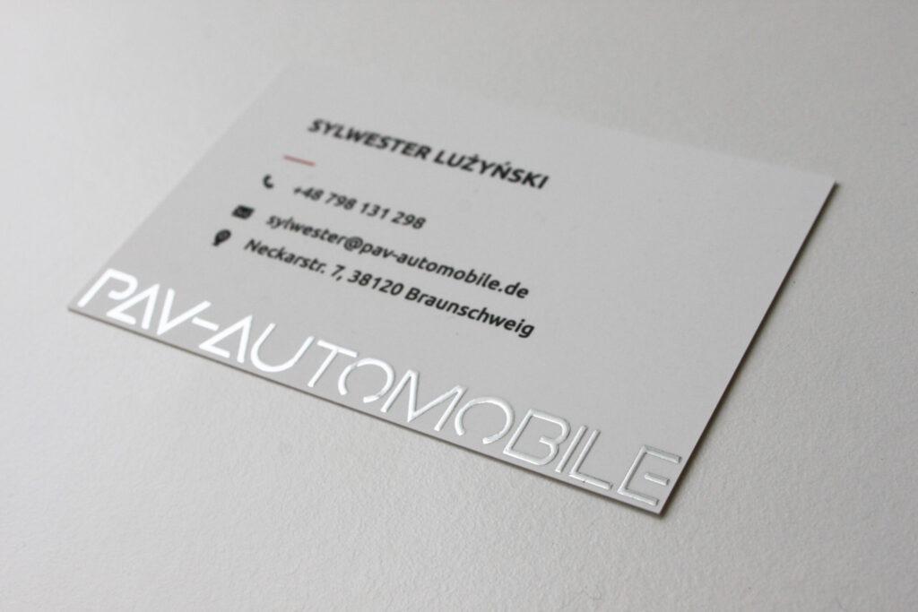 Realizacja PAV-AUTOMOBILE odzież reklamowa smycze wizytówki kalendarze